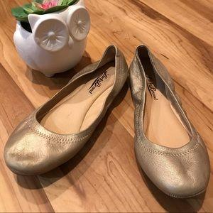 🌸2/$30 Lucky Brand emmie flats gold